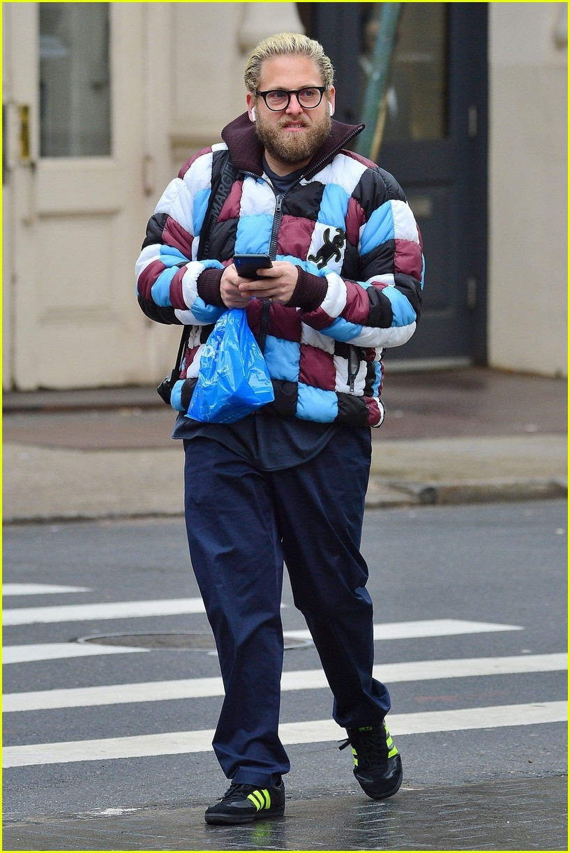 Jonah Hill Rocks a Checkered Jacket While Running Errands in Chilly NYC!:  Photo 4219978 | Jonah Hill Pictures | Just Jared