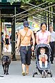 Orlando Bloom: Shirtless Cool Down with Flynn and Sidi