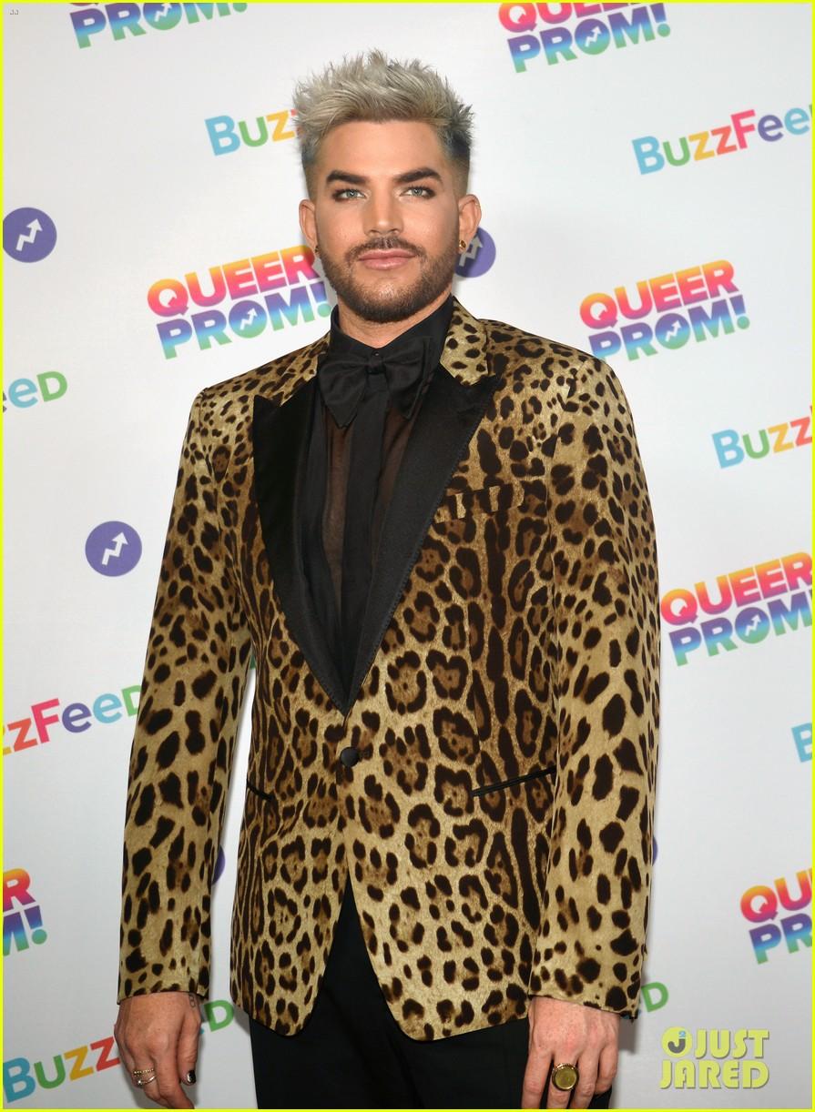 adam lambert evan rachel wood attend buzzfeed queer prom013898536