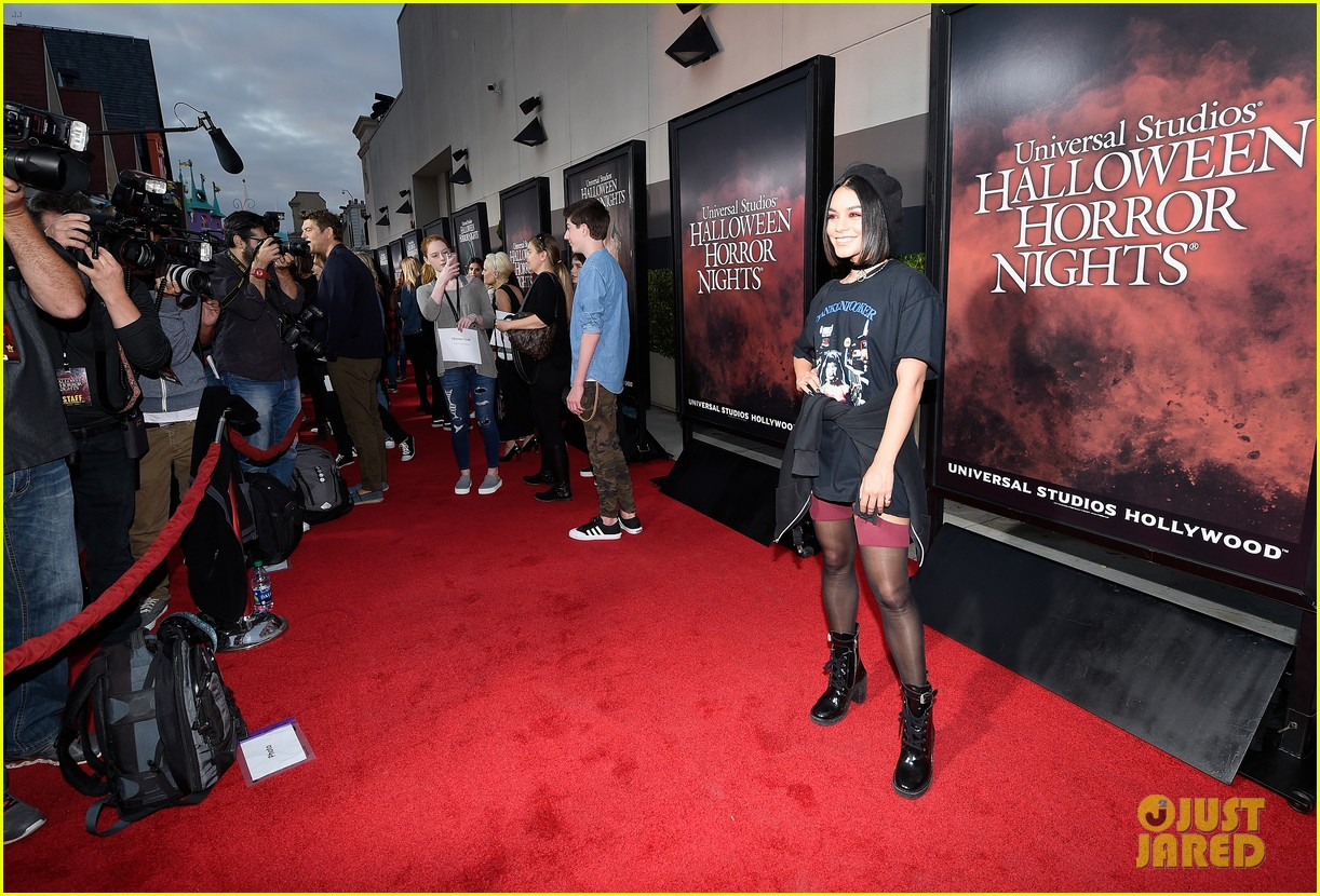 vanessa hudgens goes goth chic at universal studios halloween horror nights 133958290