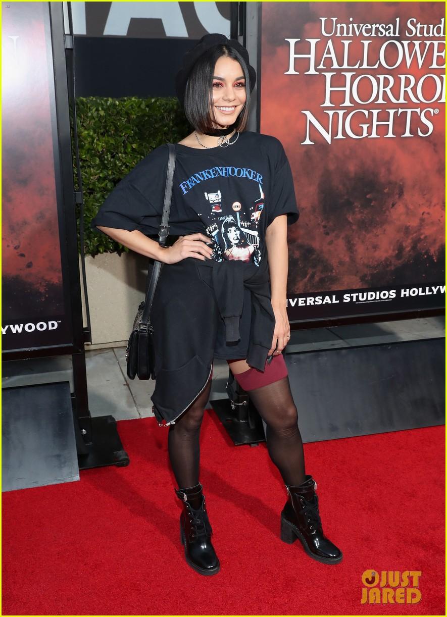 vanessa hudgens goes goth chic at universal studios halloween horror nights 203958297