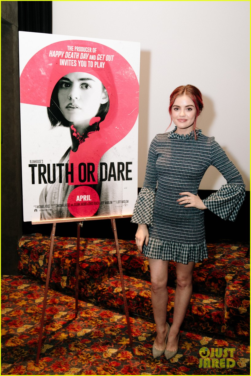 lucy hale tyler posey truth or dare premiere 404063786