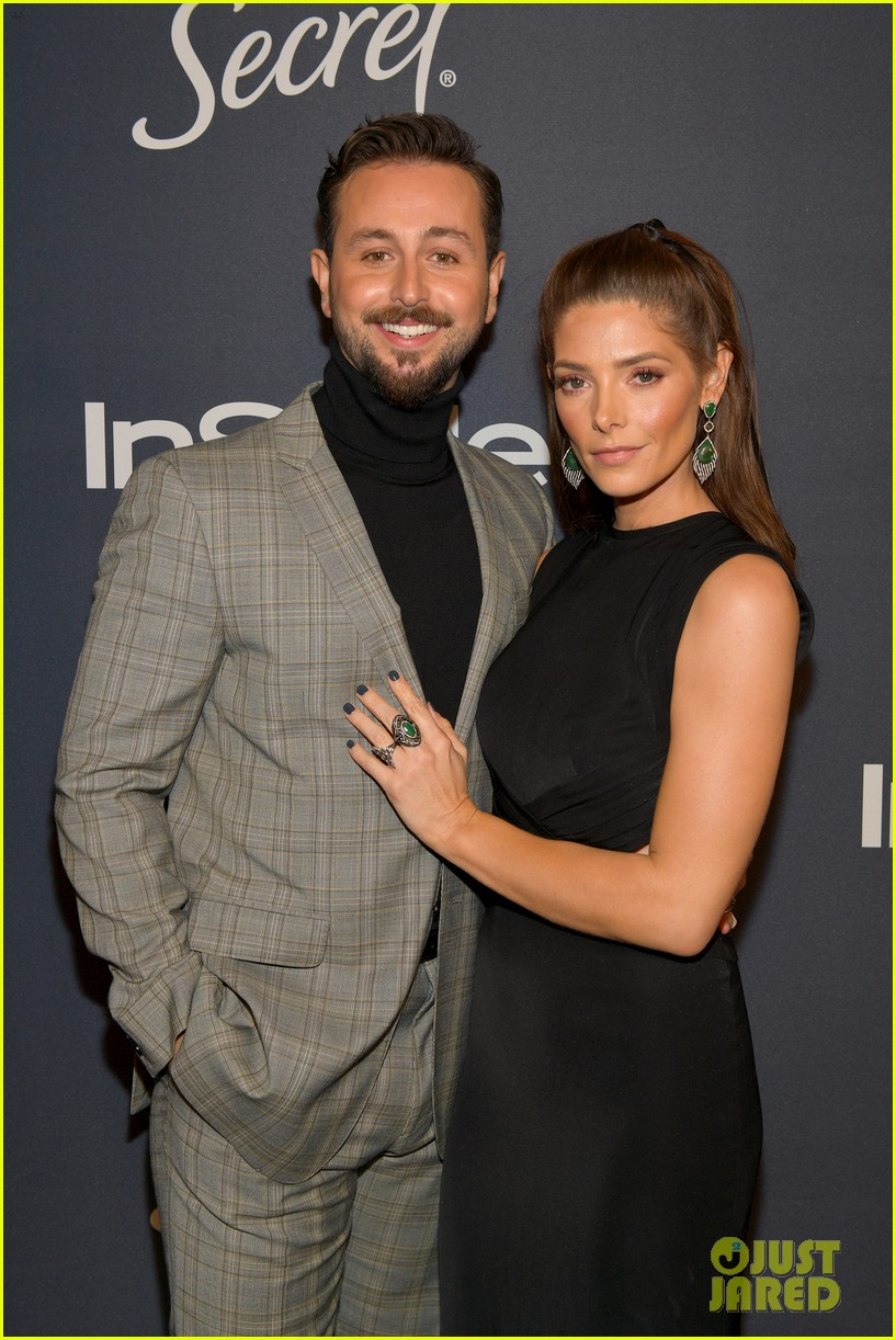 ashley greene hubby paul khoury couple up at golden globes after party 184411639
