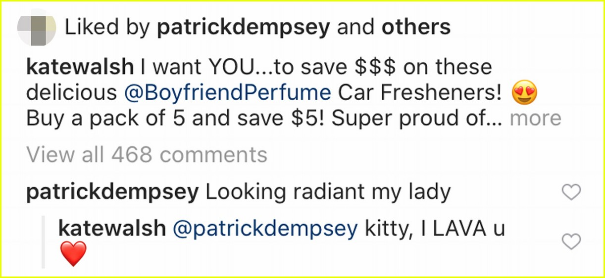 patrick dempsey comments greys anatomy ex wife kate walshs photo 014429560