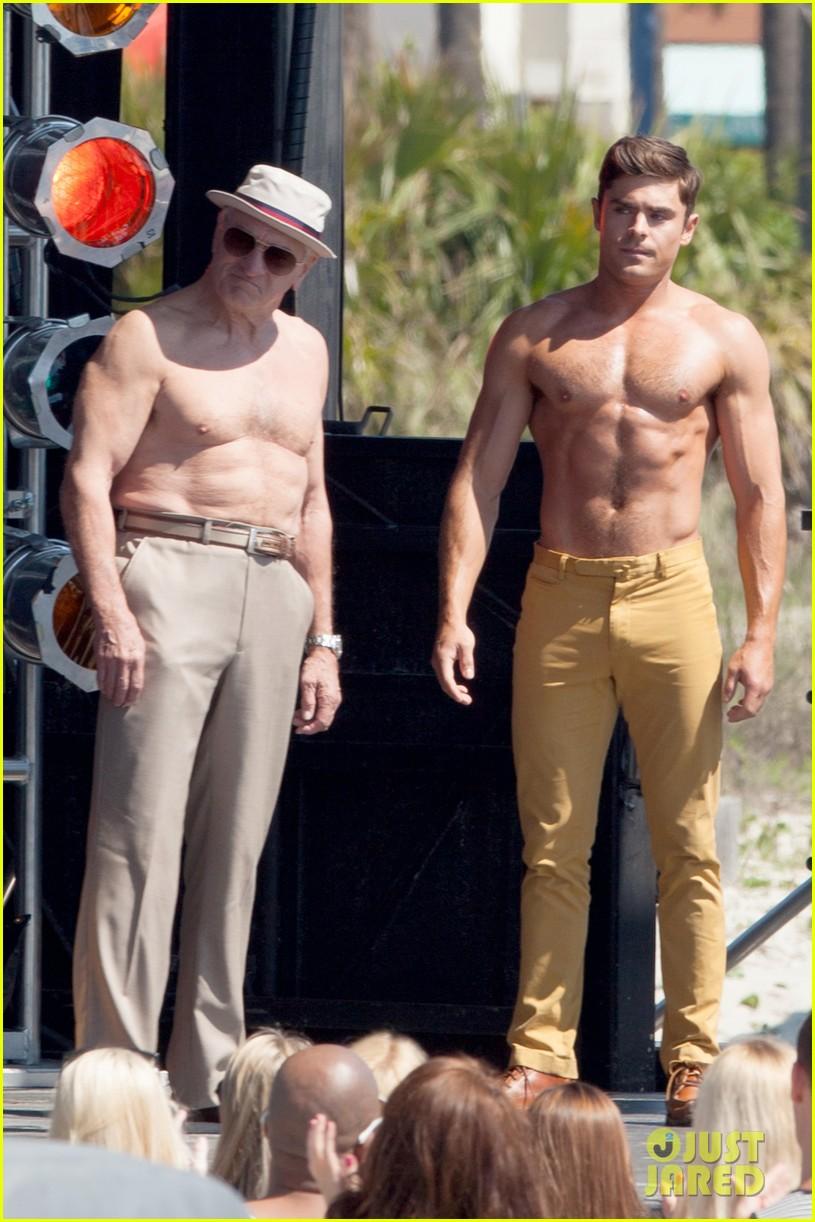 jake picking shirtless with zac efron 144458524