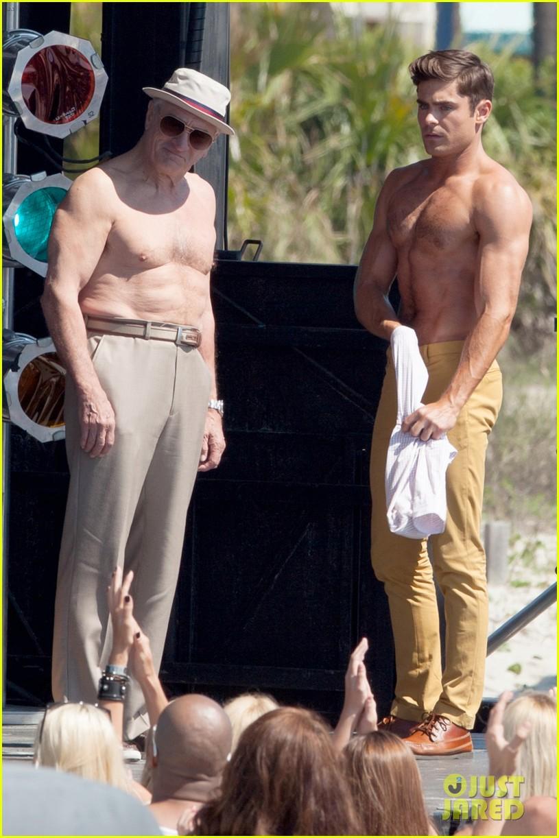 jake picking shirtless with zac efron 154458525