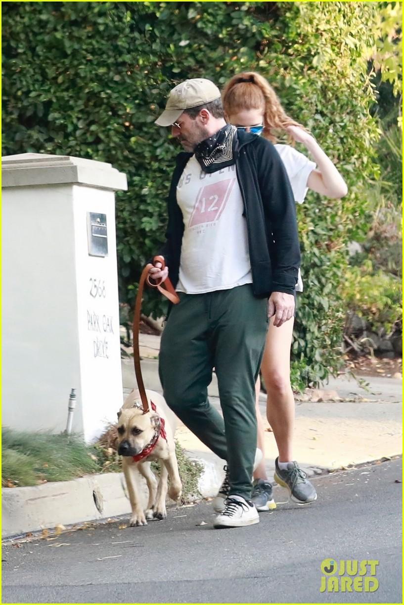 jon hamm anna osceola take his dog for a walk 114502431