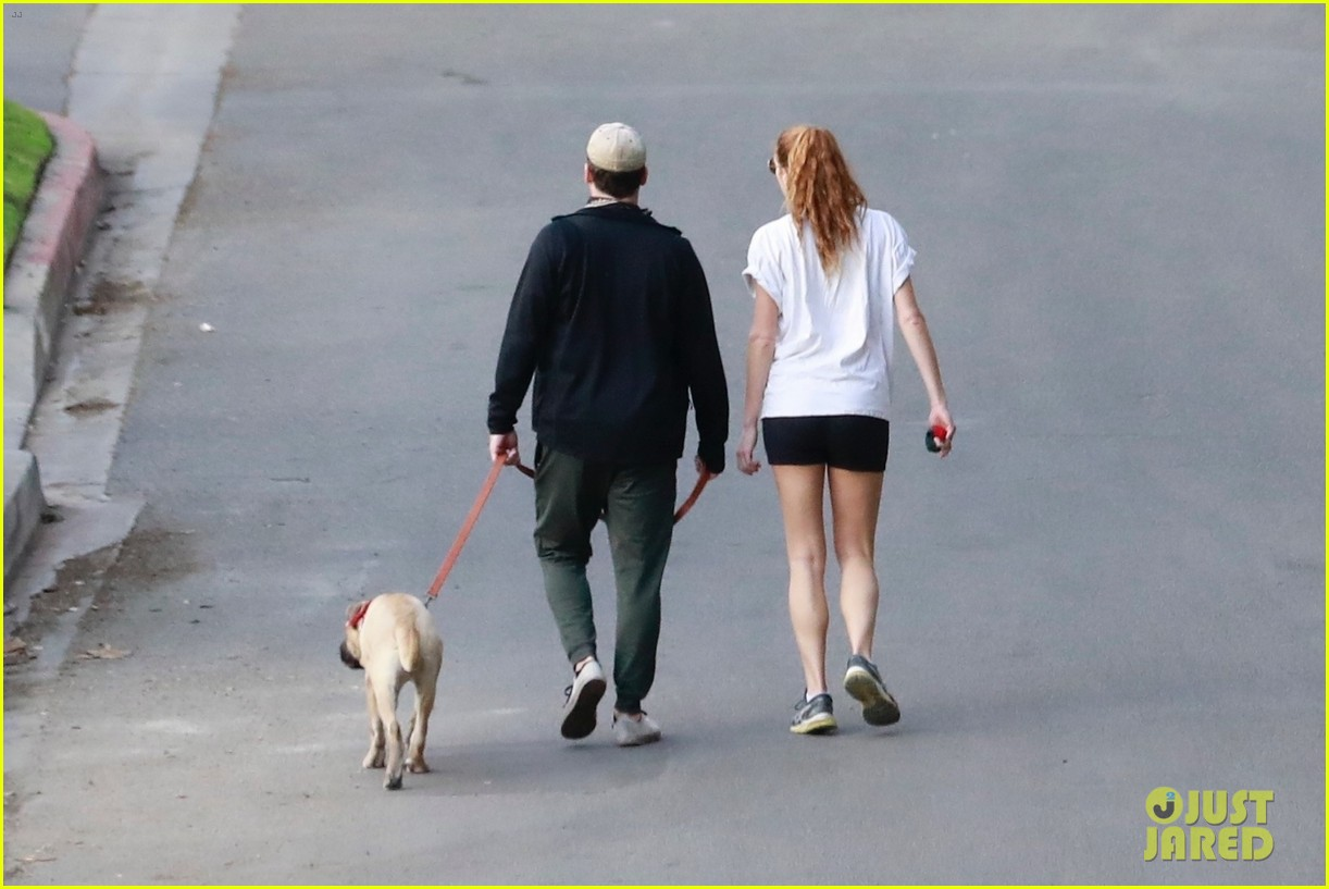 jon hamm anna osceola take his dog for a walk 144502434
