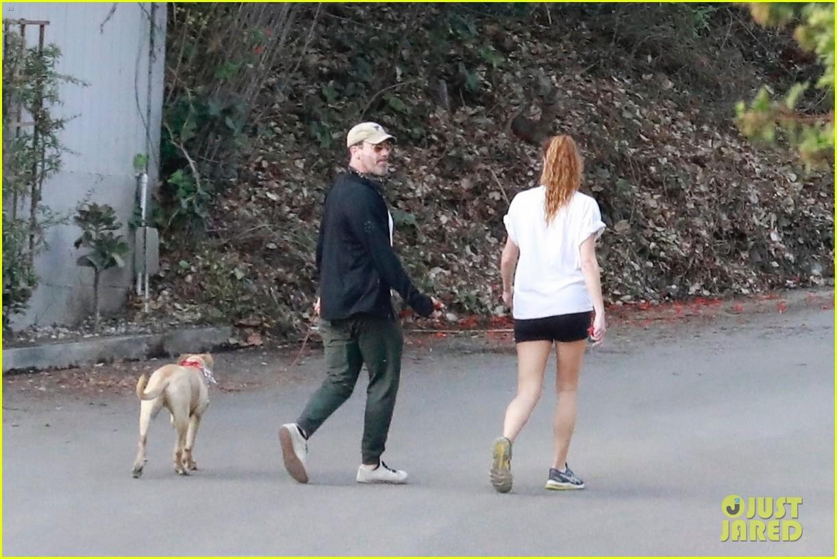 jon hamm anna osceola take his dog for a walk 154502435