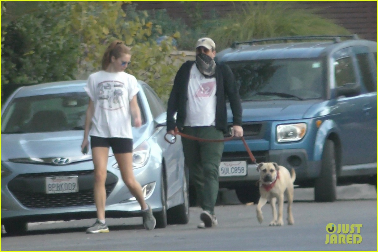 jon hamm anna osceola take his dog for a walk 164502436
