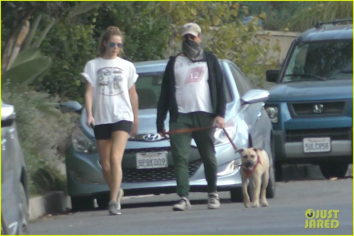 jon hamm anna osceola take his dog for a walk 174502437