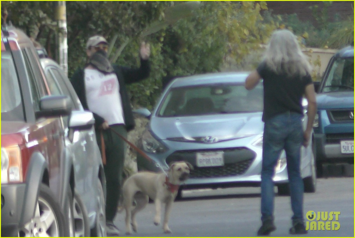 jon hamm anna osceola take his dog for a walk 184502438