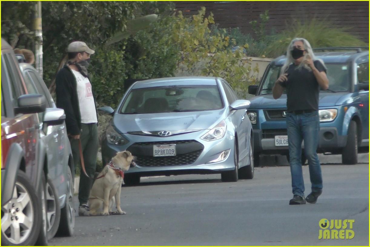 jon hamm anna osceola take his dog for a walk 194502439