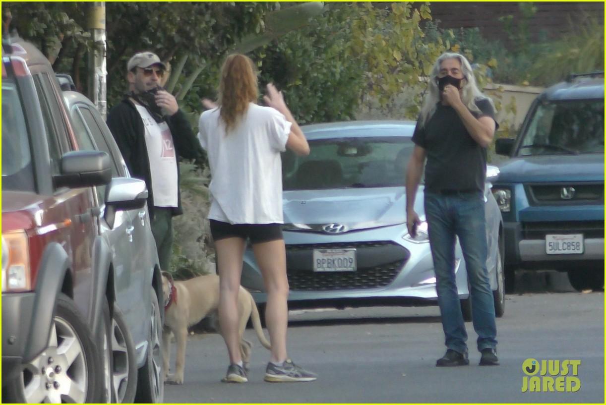 jon hamm anna osceola take his dog for a walk 204502440