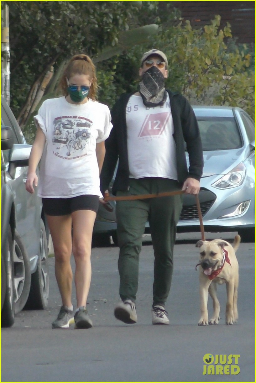 jon hamm anna osceola take his dog for a walk 214502441