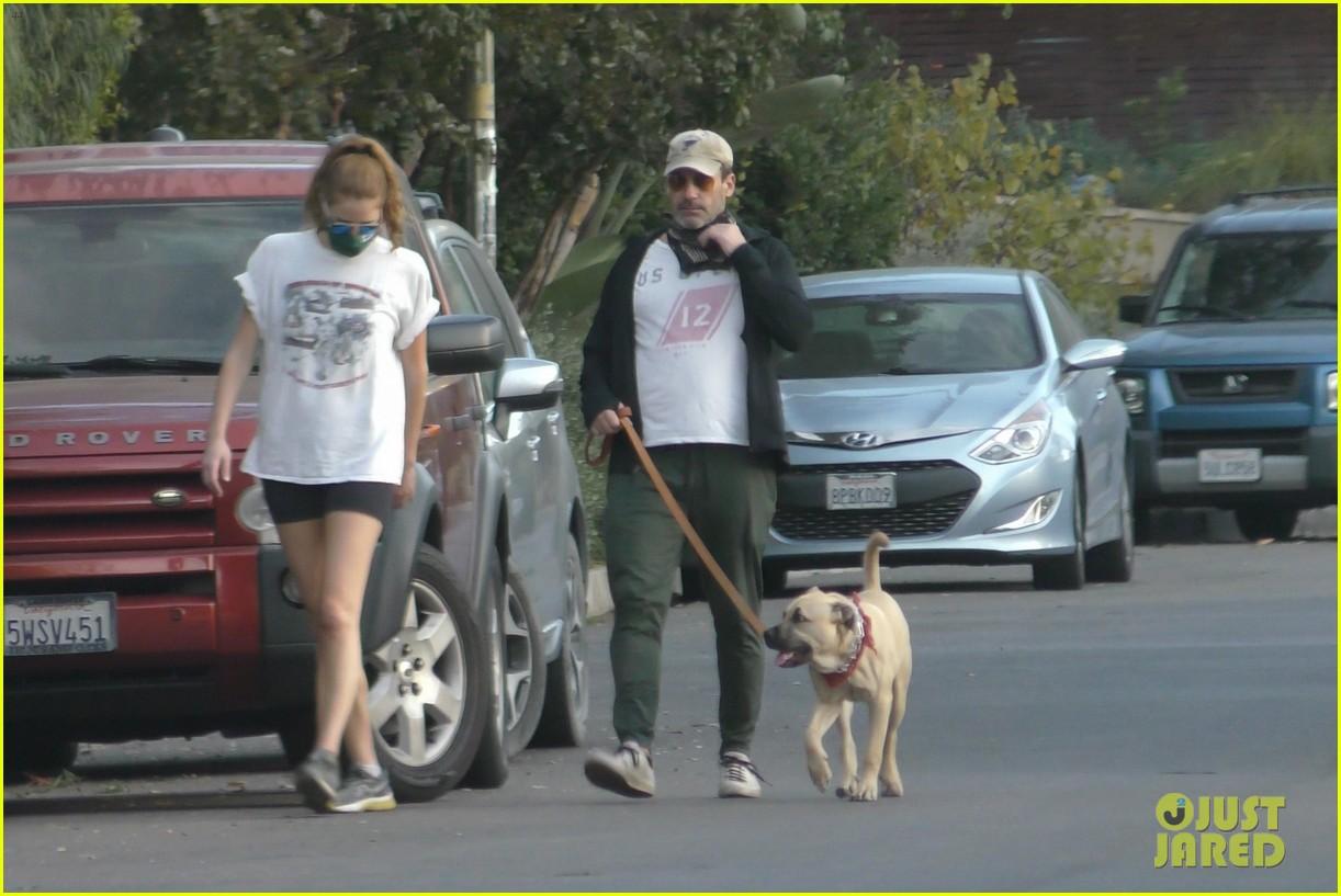 jon hamm anna osceola take his dog for a walk 224502442