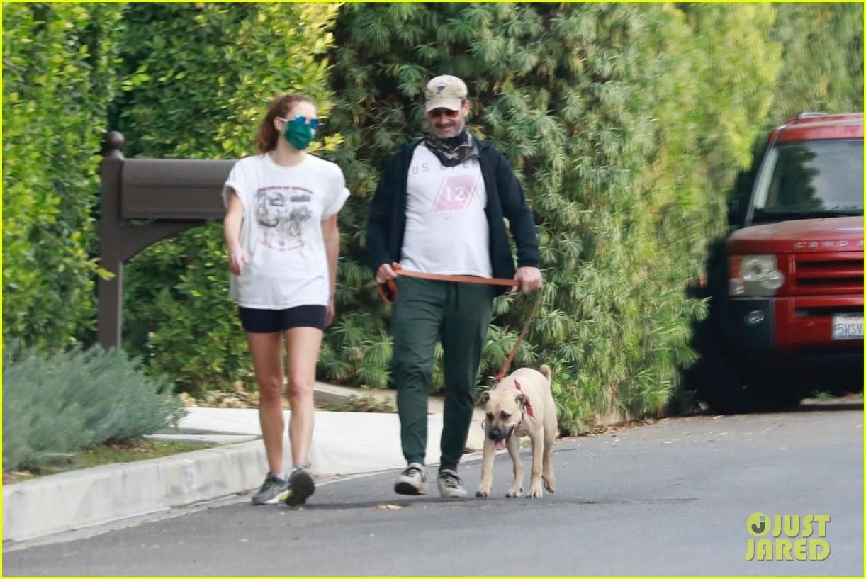 jon hamm anna osceola take his dog for a walk 244502444