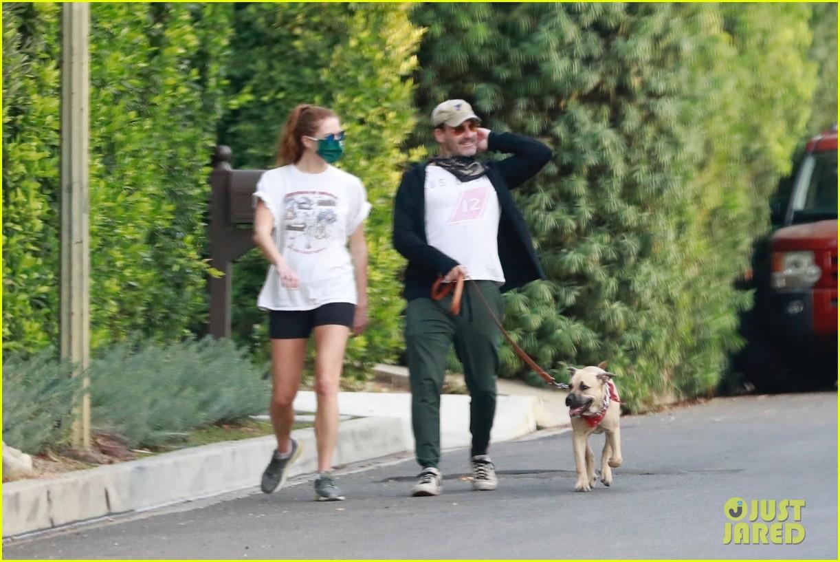jon hamm anna osceola take his dog for a walk 274502447