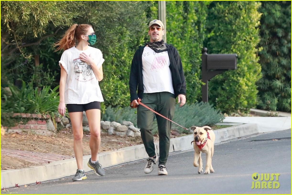 jon hamm anna osceola take his dog for a walk 294502449