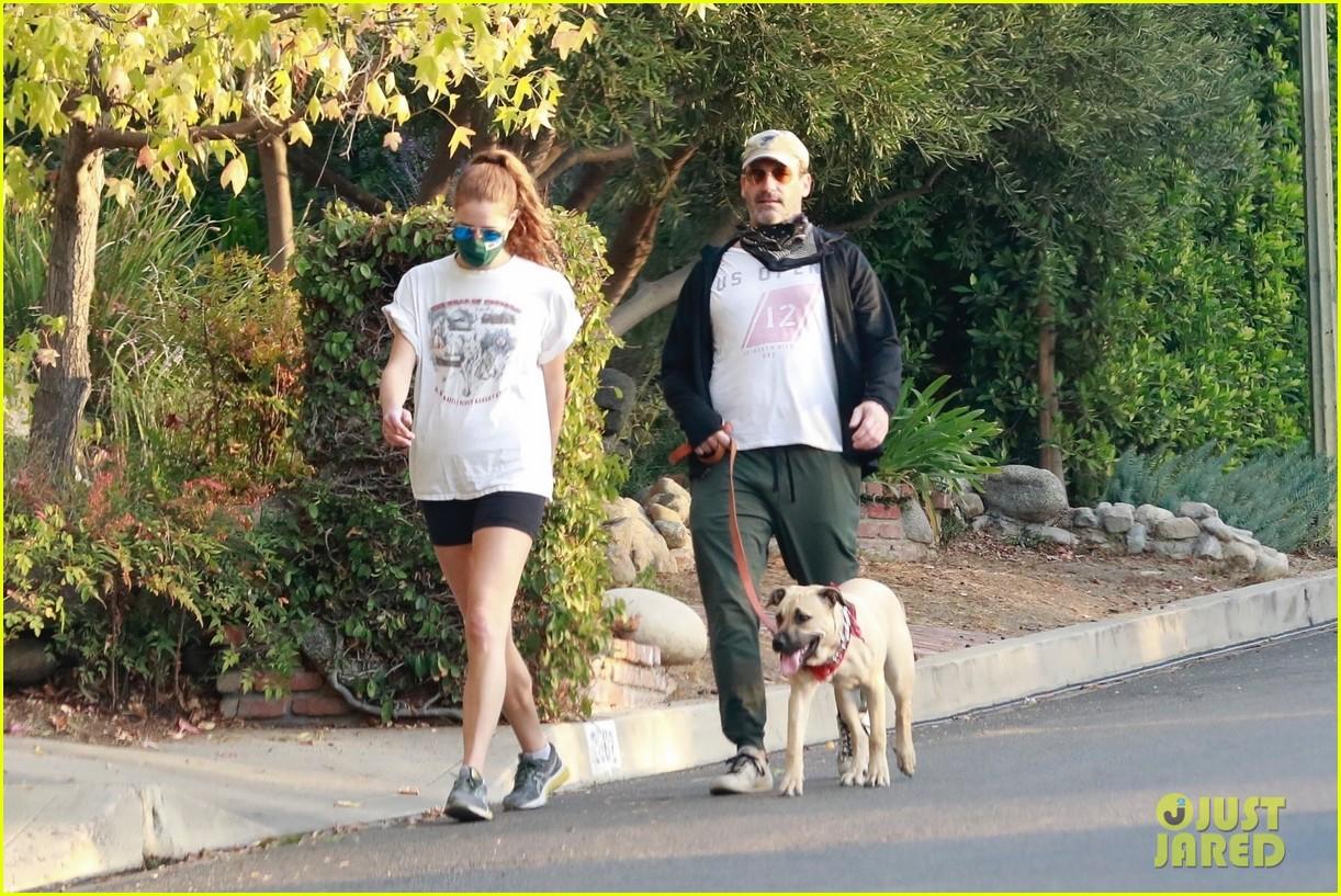 jon hamm anna osceola take his dog for a walk 314502451