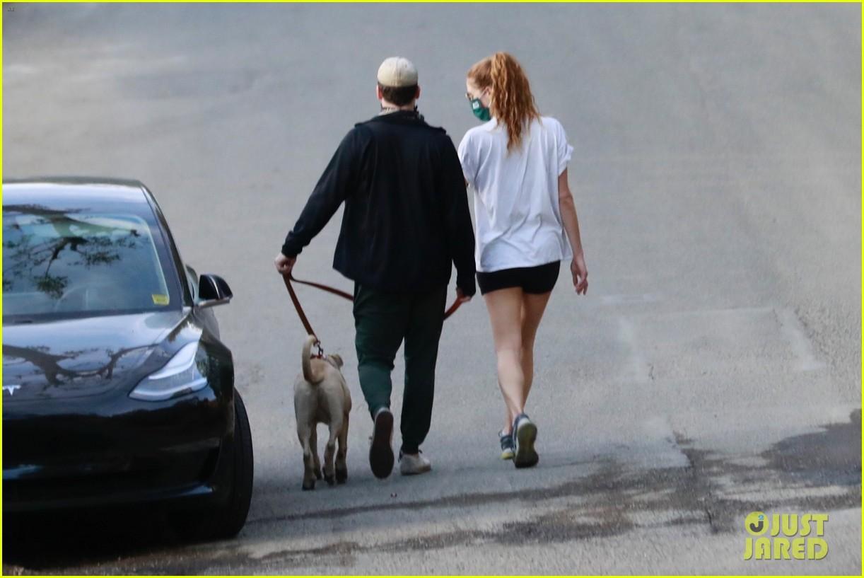 jon hamm anna osceola take his dog for a walk 364502456