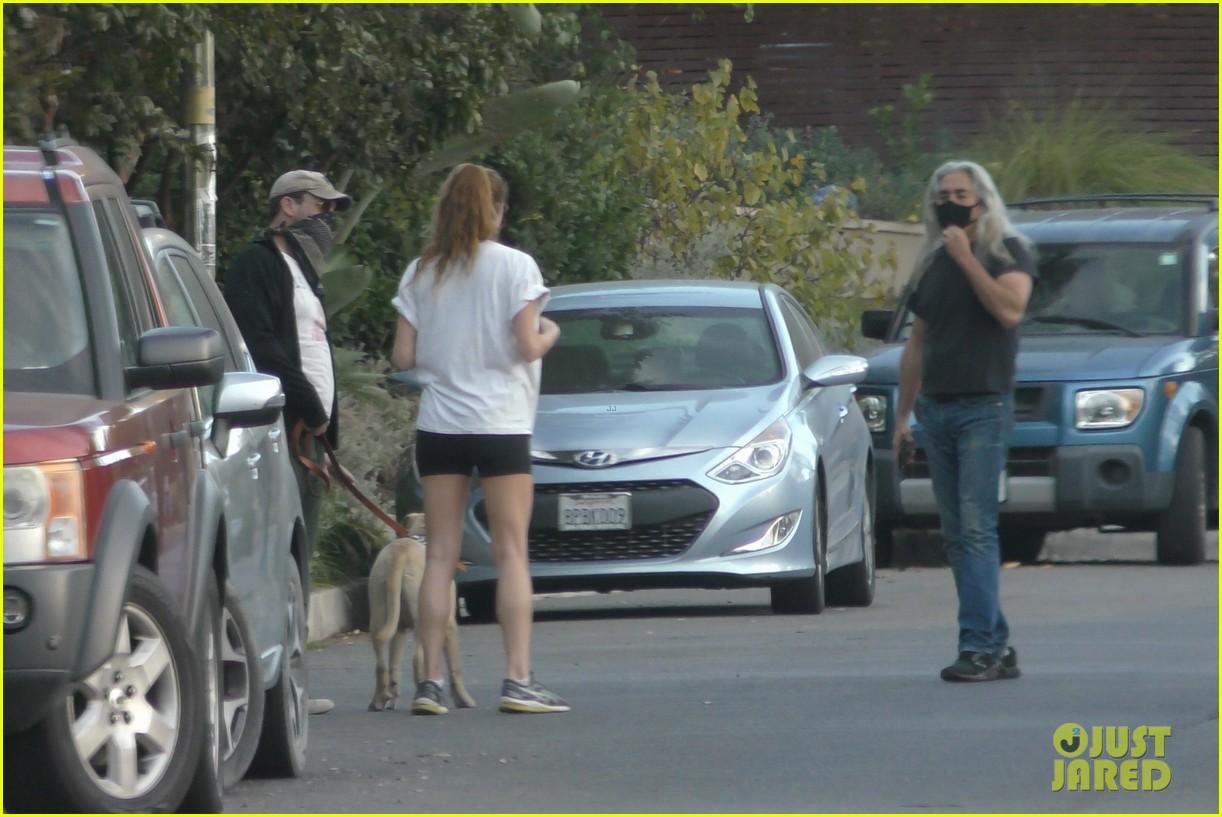jon hamm anna osceola take his dog for a walk 394502459