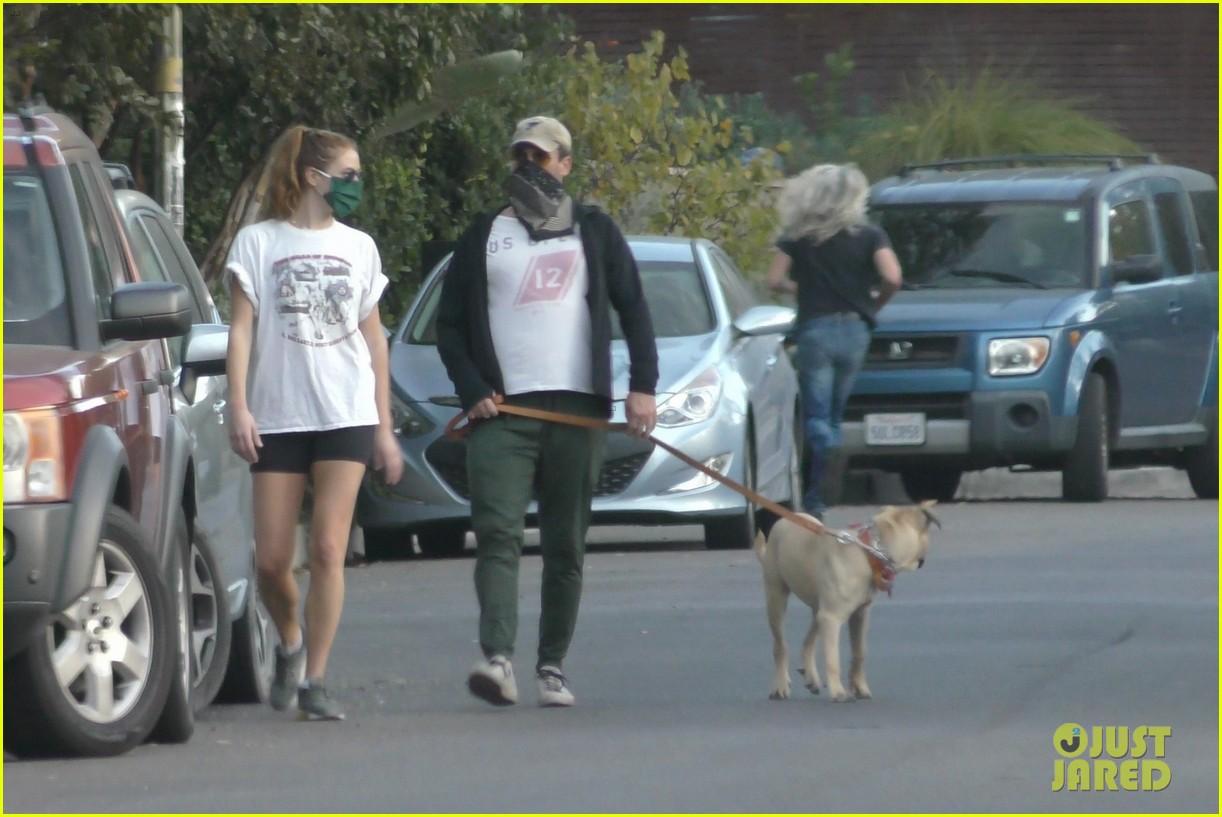 jon hamm anna osceola take his dog for a walk 424502462