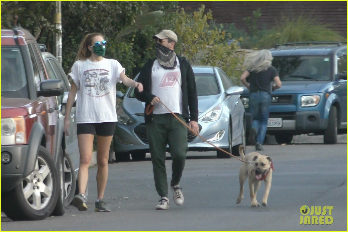 jon hamm anna osceola take his dog for a walk 434502463
