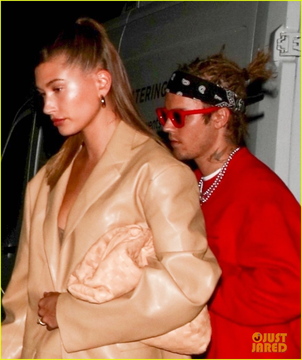 justin bieber new hairstyle at dinner with hailey bieber 044552123