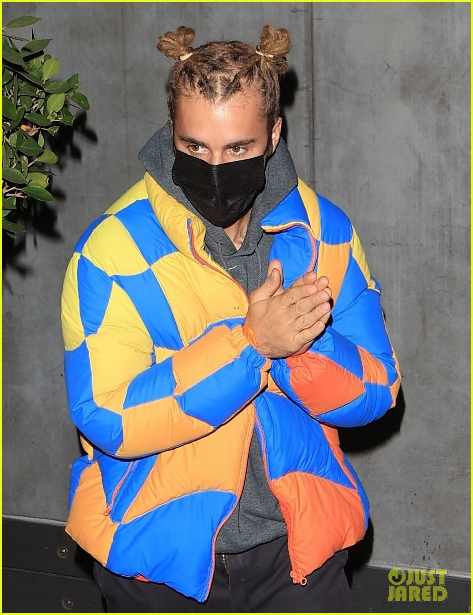 justin bieber wears hair in top knots for night out 014556313