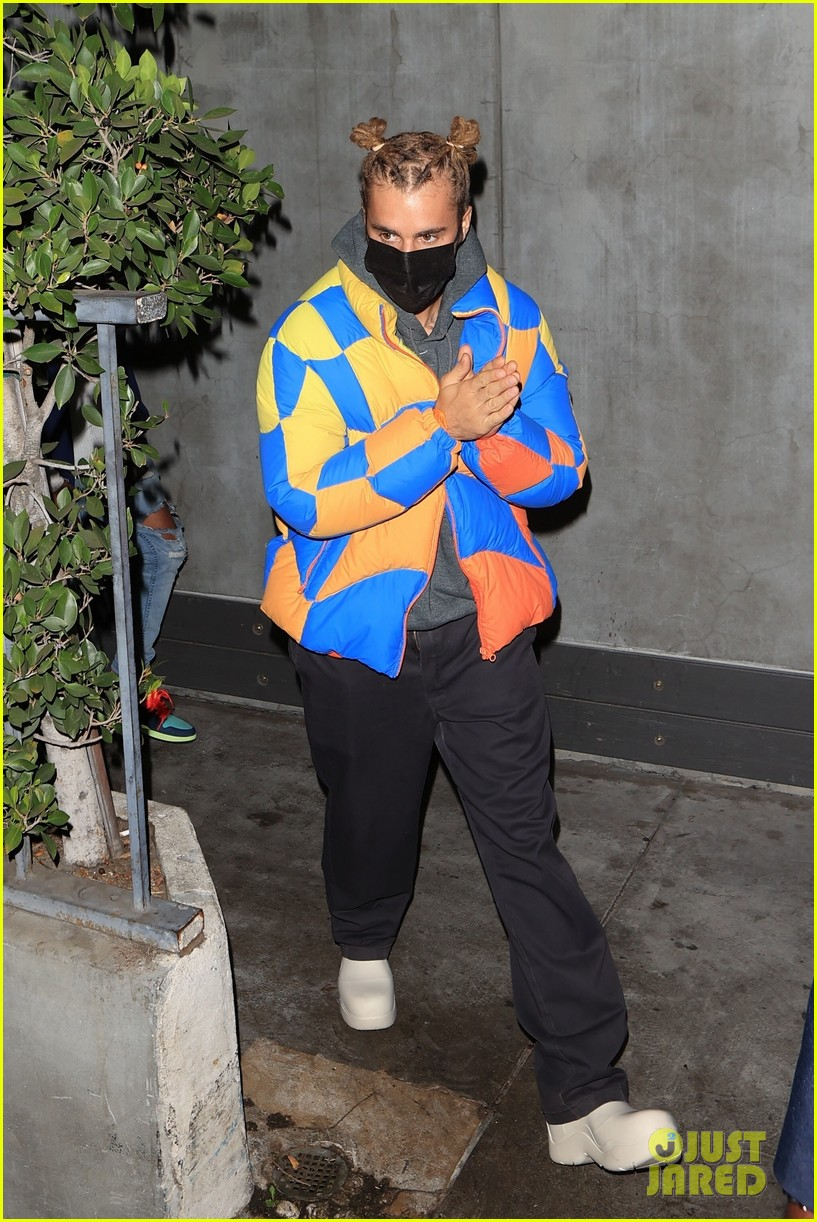 justin bieber wears hair in top knots for night out 044556316