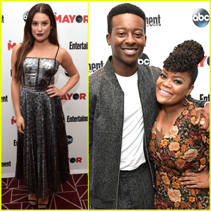 Lea Michele Joins Her 'The Mayor' Co-Stars at Screening in WeHo
