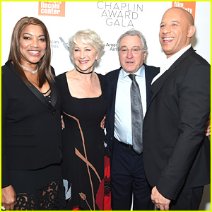 Helen Mirren is Supported by Famous Friends at Chaplin Award Gala 2018!