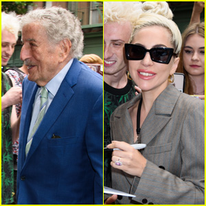 Tony Bennett Joins Lady Gaga at the Recording Studio in NYC!