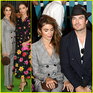 Nikki Reed & Ian Somerhalder Sit Front Row at Escada Fashion Show