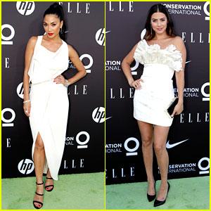 Nicole Scherzinger & Lorenza Izzo Are Ladies In White at 'Elle' Women On a Mission Gala