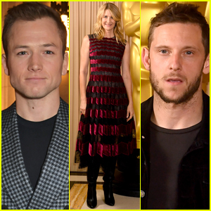 Taron Egerton, Laura Dern, & Jamie Bell Attend The Academy's New Members Party