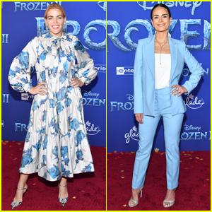 Busy Philipps & Jordana Brewster Go Pretty in Blue for 'Frozen 2' Premiere!