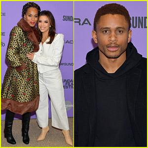 Kerry Washington Supports Husband Nnamdi Asomugha & Eva Longoria at 'Sylvie's Love' Sundance Premiere!