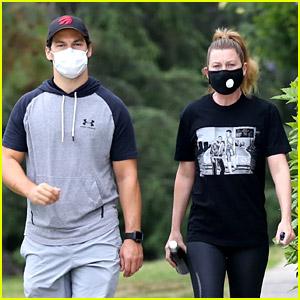 Grey's Anatomy's Ellen Pompeo & Giacomo Gianniotti Reunite for a Hike