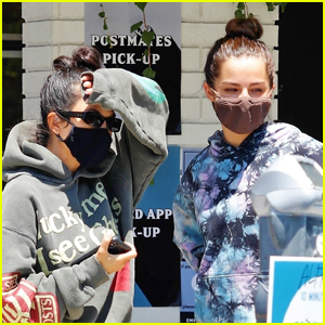 Kourtney Kardashian Heads Out on Coffee Run with Addison Rae