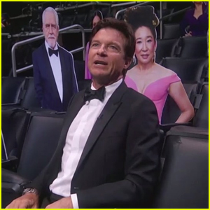 Jason Bateman Sits With Celeb Cutouts During Special Emmy Awards 2020 Appearance