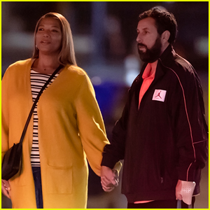 Adam Sandler & Queen Latifah Hold Hands Filming Netflix Movie 'Hustle' in Philadelphia