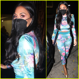 Nicole Scherzinger Rocks Colorful Look for Night Out with Friends
