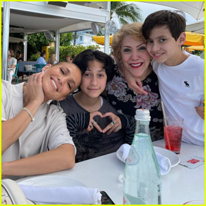 Jennifer Lopez Cozies Up with Twins Emme & Max Along with Mom Lupe on Mother's Day!