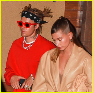 Justin Bieber Shows Off New Hairstyle at Dinner with Hailey