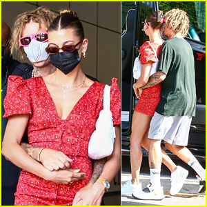Justin Bieber Cuddles With Wife Hailey While Out & About in Miami